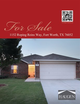 Haugen Properties - 1152 Roping Reins Way, Fort Worth, Texas 76052
