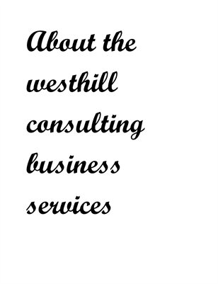 About the westhill consulting business services