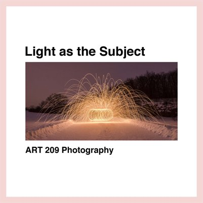 Light As The Subject