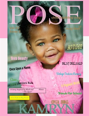POSE child modeling mag Issue # 5 BACK TO SCHOOL