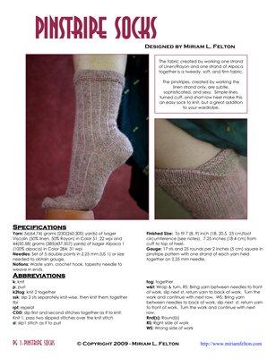 Pinstripe Socks