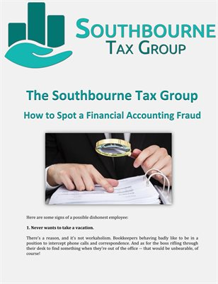 The Southbourne Tax Group: How to Spot a Financial Accounting Fraud