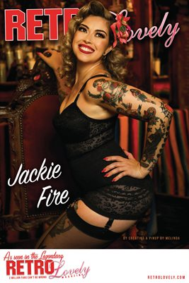 Retro Lovely No.169 – Jackie Fire Cover Poster