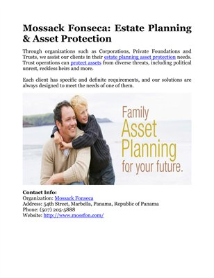 Mossack Fonseca: Estate Planning & Asset Protection