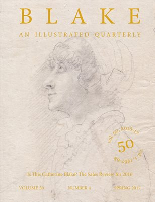 Blake/An Illustrated Quarterly vol. 50, no. 4 (spring 2017)