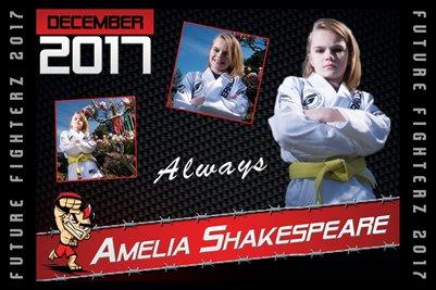 Amelia Shakespeare Cal Poster 2017
