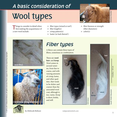 Deborah Robson's Guide to Fiber: Wool Types