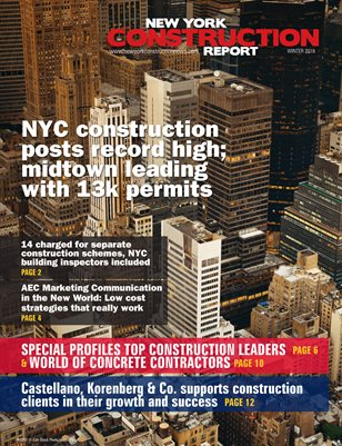 New York Construction Report Winter 2018