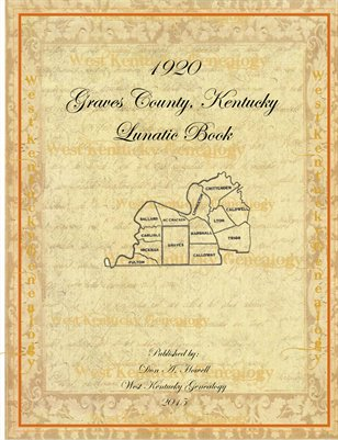 1920 Lunatic Book, Graves County, Kentucky