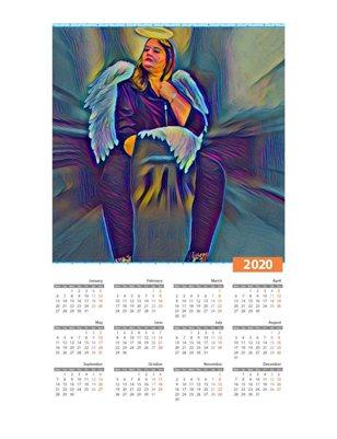 Bunny 2020 Ample Angelz Calendar
