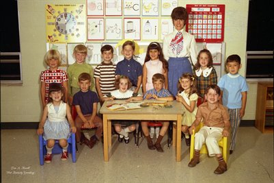 (PHOTO3 ) FIRST BAPTIST CHURCH KINDERGARTEN MAY 24, 1971