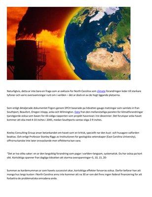 The Keeley Consulting Group - Klimatforandringarna pa beraknade effekt pa NC kusten