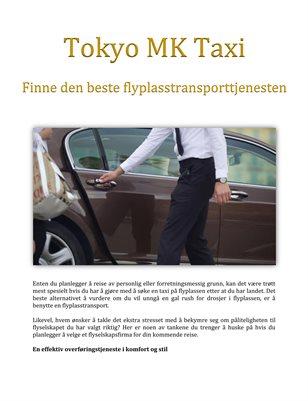 Tokyo MK Taxi: Finne den beste flyplasstransporttjenesten