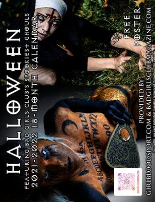 2021-2022 18-Month Calendar :: Halloween's Spooky Ghouls | Bad Girls Club