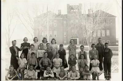 1939 Basin School, Big Horn County, Wyoming