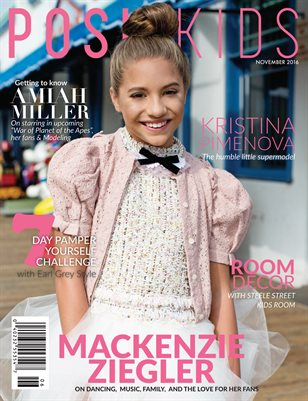 Posh Kids Magazine November 2016 - Mackenzie Ziegler