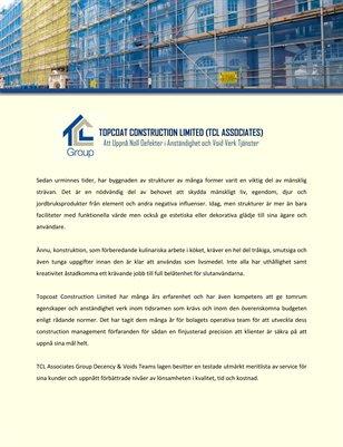Topcoat Construction Limited (TCL Associates): Att Uppnå Noll Defekter i Anständighet och Void Verk Tjänster