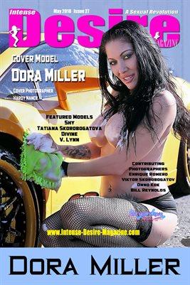INTENSE DESIRE MAGAZINE COVER POSTER - Cover Model Dora Miller - May 2019