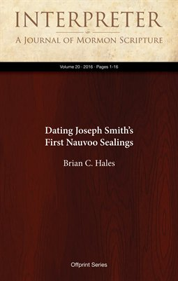 Dating Joseph Smith's First Nauvoo Sealings