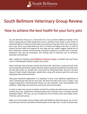 South Bellmore Veterinary Group Review: How to achieve the best health for your furry pets