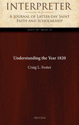 Understanding the Year 1820