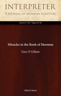 Miracles in the Book of Mormon