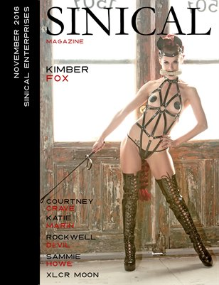 Sinical Magazine - November 2016 - Kimber Fox cover