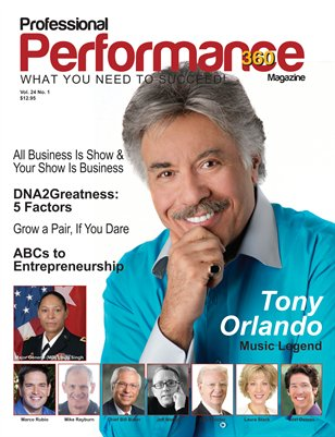 Tony Orlando Edition - PERFORMANCE/P360 Magazine - Vol.24, I. 1
