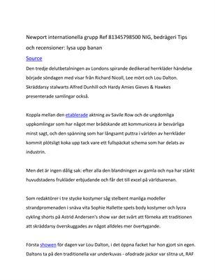 Newport internationella grupp Ref 81345798500 NIG, bedrägeri Tips och recensioner: lysa upp banan