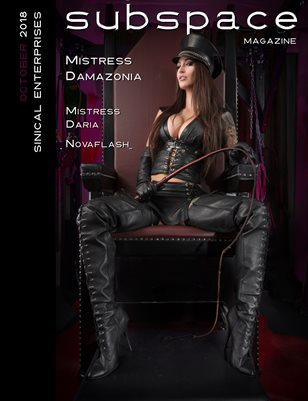 subspace Magazine October 2018 - Mistress Damazonia cover edition