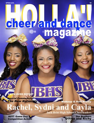 HOLLA'! Cheer and Dance Magazine Spring 2015 Issue