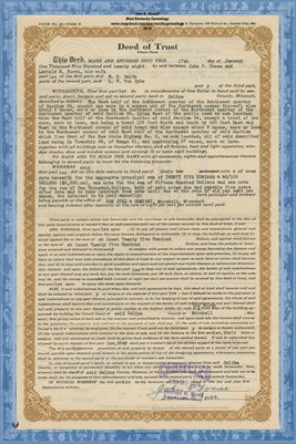 1928 DEED OF TRUST, JOHN P. FOREE TO L.W. VAN DYKE