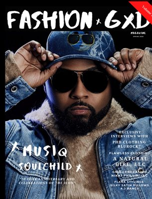 """Fashion Gxd Magazine """"Spring 2020 Volume 2"""" (Musiq SoulChild)"""