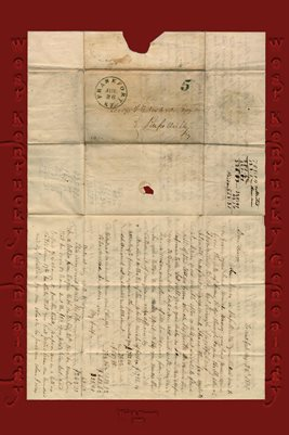 1850 GEORGE T. EDWARDS LETTER, RUSSELLVILLE, LOGAN COUNTY, KENTUCKY
