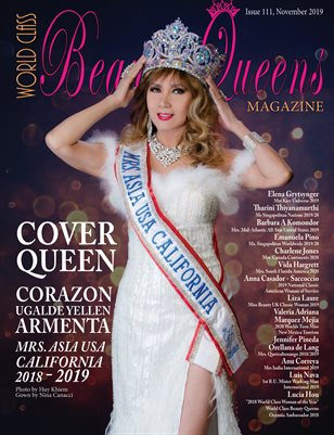 World Class Beauty Queens Magazine Issue 111 Corazon Ugalde Yellen Armenta