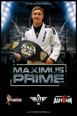 Maximus Prime Cage Lightning Poster