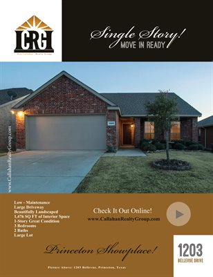 1203 Bellevue, Princeton, Texas - Callahan  Realty Group