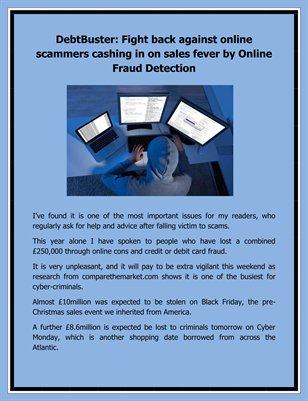 DebtBuster: Fight back against online scammers cashing in on sales fever by Online Fraud Detection