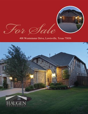 408 Westminster Drive, Lewisville, TX 75056 - Haugen Properties