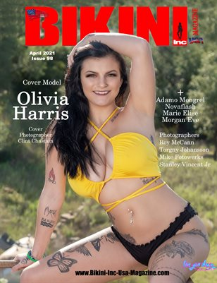 BIKINI INC USA MAGAZINE - Cover Model Olivia Harris - April 2021