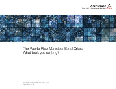 The Puerto Rico Municipal Bond Crisis