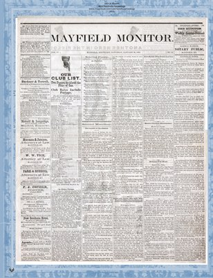 Jan. 25, 1879, Mayfield Monitor, Mayfield, Kentucky