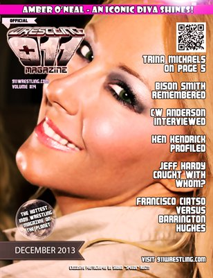 Amber O'Neal 911Wrestling Magazine - December Cover Variation