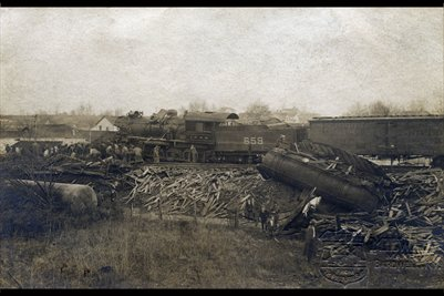 Train Wreck, Jan. 11, 1907, Bardwell, Carlisle County, Kentucky Photo 2