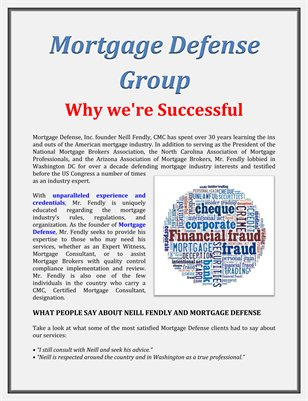 Mortgage Defense Group: Why we're Successful