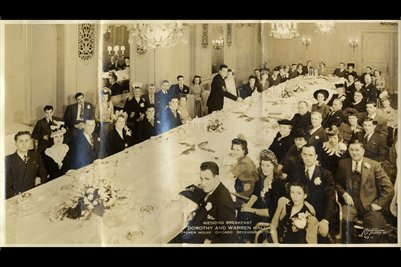 DEC. 31, 1942, Dorothy & Warren Hall Wedding Breakfast, Palmer House, Chicago, Illinois
