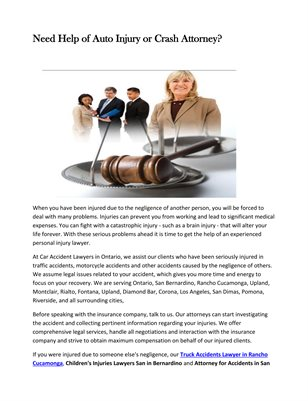 Best Personal Injury Attorney Ontario