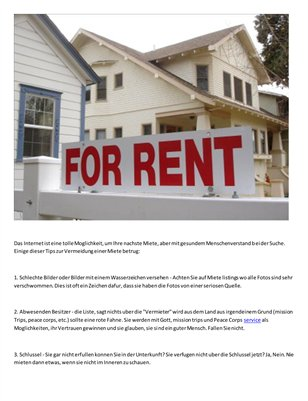 The Cindy Shearin Group Real Estate news - So vermeiden Sie eine Miete home scam