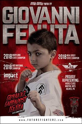 Giovanni Fenuta Red Elite Combat Poster