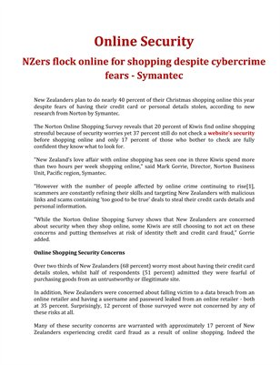 Online Security: NZers flock online for shopping despite cybercrime fears